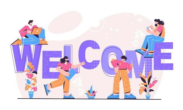 Ilustración de bienvenida