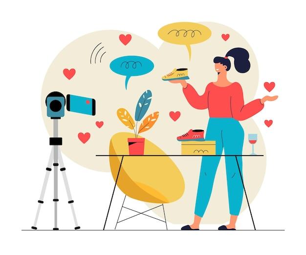 Ilustración de blogs de video influyentes
