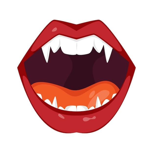 Ilustración de boca de monstruo