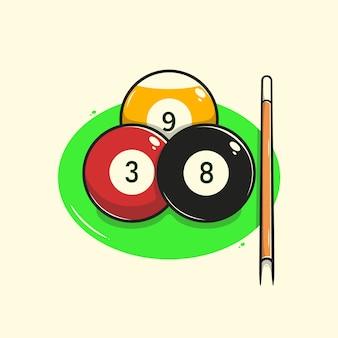 Ilustración de bola de billar