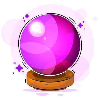 Ilustración de bola mágica adecuada