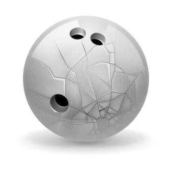 Ilustración de bola rota