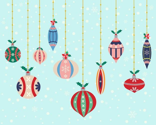 Ilustración de bolas de navidad