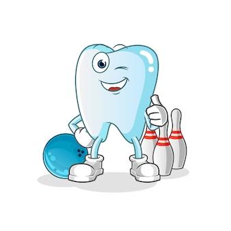 Ilustración de bolos de juego de dientes