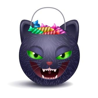 Ilustración de bolsa de halloween realista