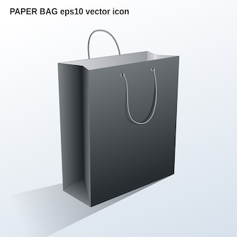 Ilustración de bolsa de papel comercial