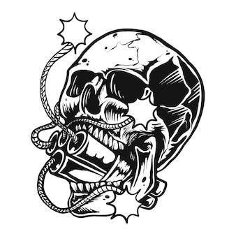 Ilustración de bomba de calavera