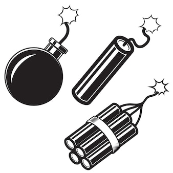 Ilustración de bomba de estilo cómico, palos de dinamita. elemento de cartel, tarjeta, banner, flyer. imagen