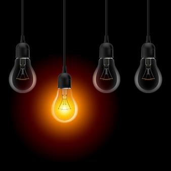 Ilustración de bombilla de iluminación