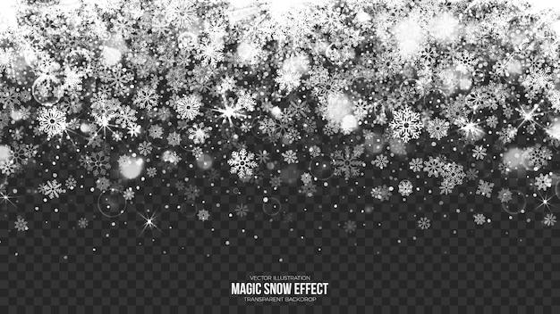 Ilustración de borde de nieve transparente