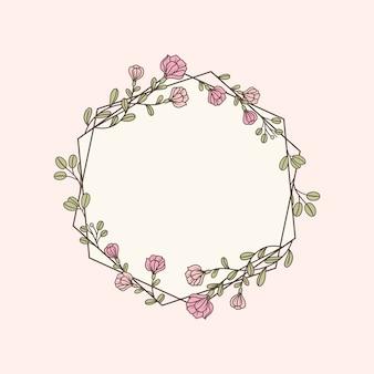 Ilustración botánica floral de la maqueta