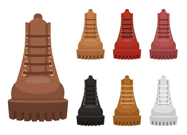 Ilustración de botas de cuero aislado en blanco