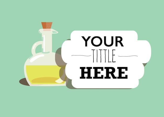Ilustración de una botella de aceite de oliva