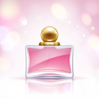 Ilustración de botella de perfume. agua de perfume. eau de toilette.