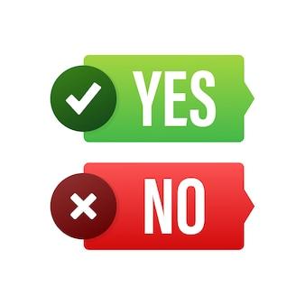Ilustración del botón sí y no