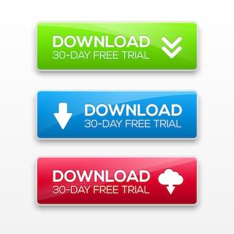 Ilustración de botones de descarga.