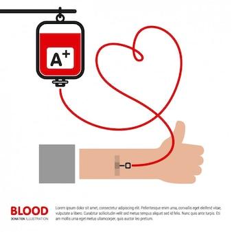 Ilustración de brazo donando sangre