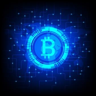 Ilustración brillante de bitcoin