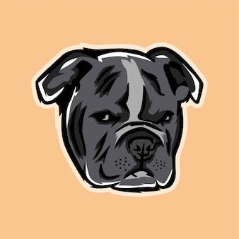 Ilustración de bulldog moderno