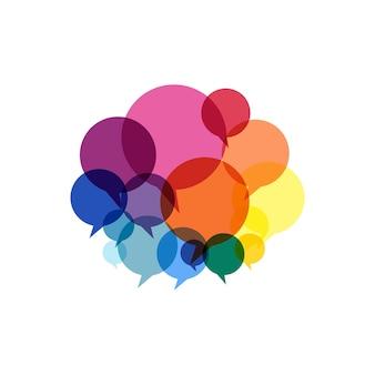 Ilustración de burbujas de discurso