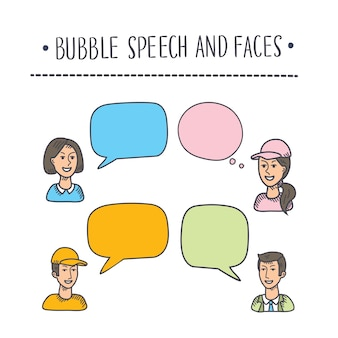 Ilustración de burbujas multicolores interactivas en la ilustración