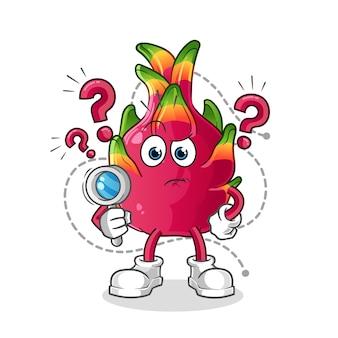 Ilustración de búsqueda de chile. personaje