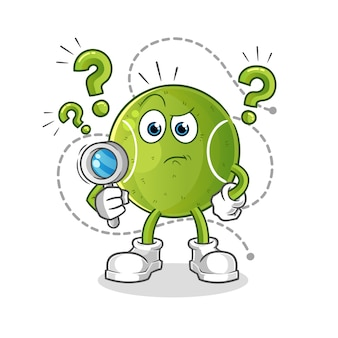 Ilustración de búsqueda de tenis. vector de personaje