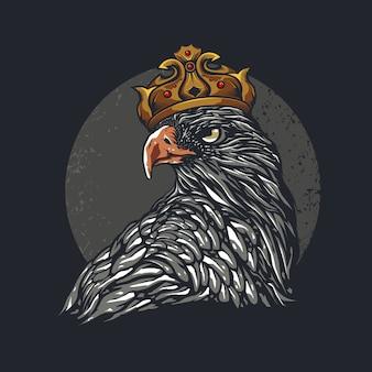 Ilustración de cabeza de águila