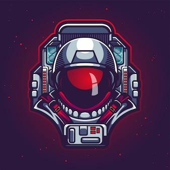 Ilustración de cabeza de astronauta