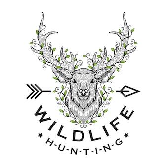 Ilustración de cabeza de ciervo