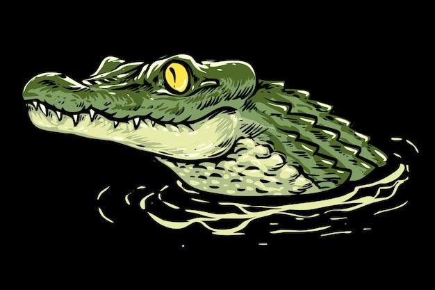 Ilustración de cabeza de cocodrilo