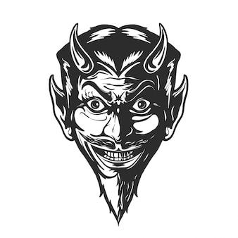 Ilustración de cabeza de diablo