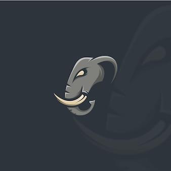 Ilustración de cabeza de elefante