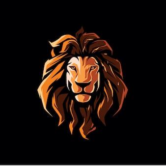 Ilustración de cabeza de león hipster