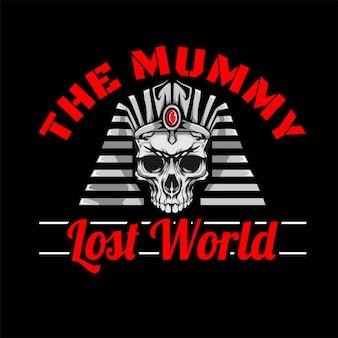 Ilustración cabeza de momia