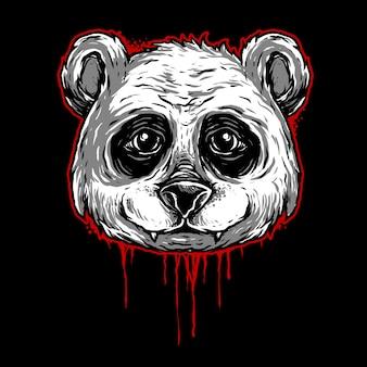 Ilustración de la cabeza de panda