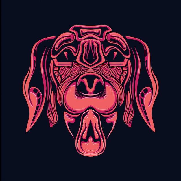 Ilustración de cabeza de perro