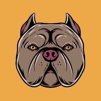 Ilustración de la cabeza de pitbull