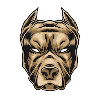 Ilustración de cabeza de pitbull