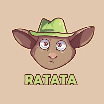 Ilustración de cabeza de rata