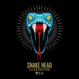 Ilustración de cabeza de serpiente
