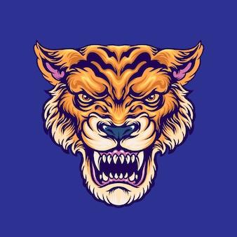 Ilustración de la cabeza de tigre