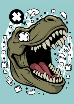 Ilustración de la cabeza de trex