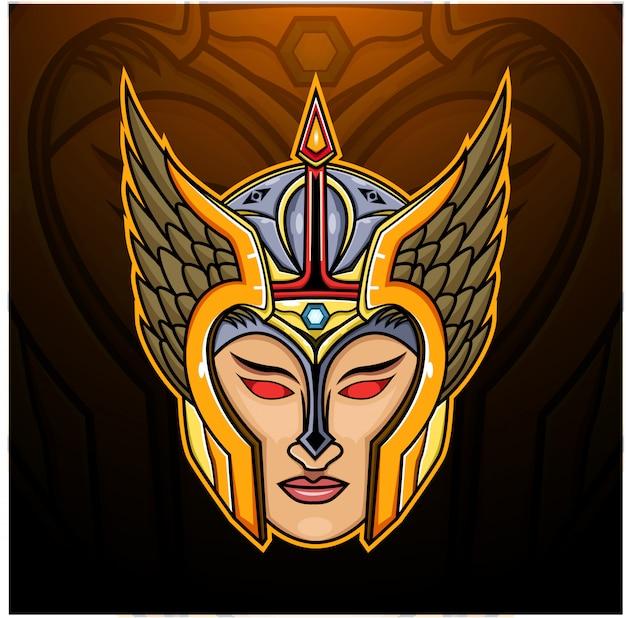 Ilustración de la cabeza de valkyrie