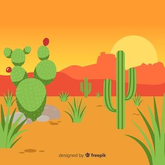 Ilustración cactus desierto