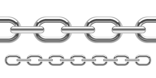 Ilustración de cadena metálica sobre fondo blanco.