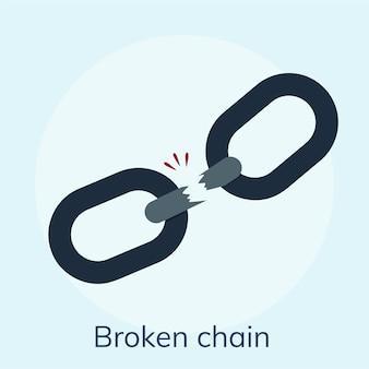 Ilustración de una cadena rota