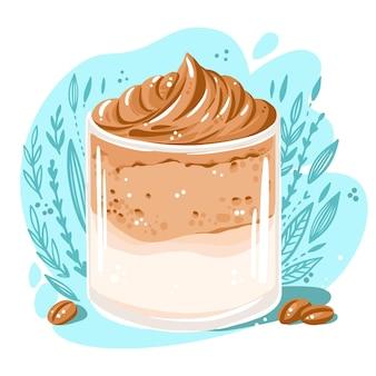 Ilustración de café dalgona