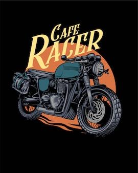Ilustración de cafe racer