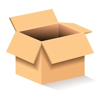 Ilustración de caja de cartón